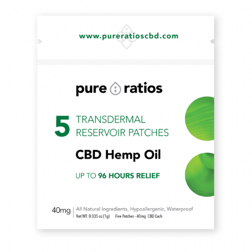 Pure Ratios - 4 day (water resistant) Transdermal CBD Patches x5